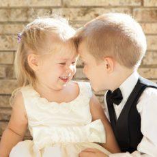 2 enfants amoureux au Domaine Pascaud